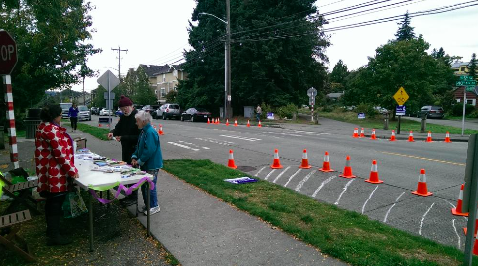 PARKing Day Plus 2015 volunteers observed traffic and people walking & biking across the trail